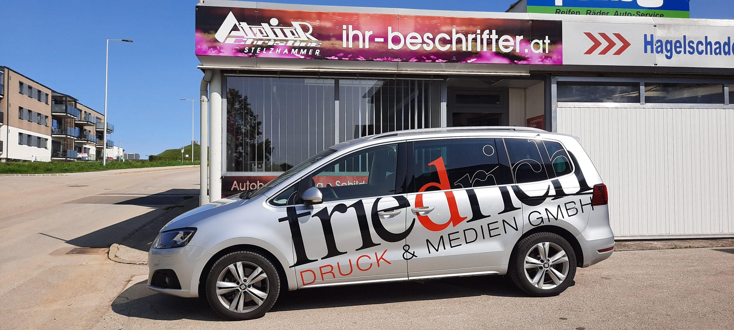 Referenz - Autobeklebung Firma Friedrich